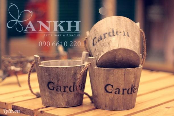 Chậu gỗ handmade phong cách vintage