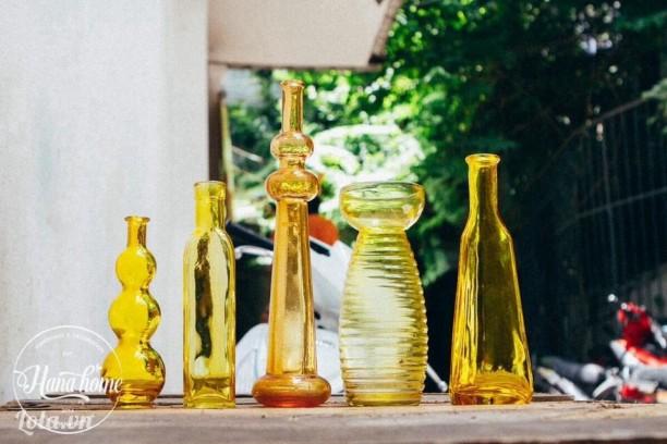 Set thuy tinh- tone yellow