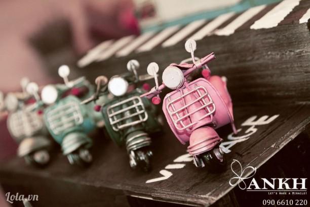 Mô hình xe vespa mini  - handmade