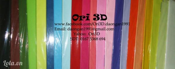 Giấy nhăn - Nguyên liệu Origami 3D