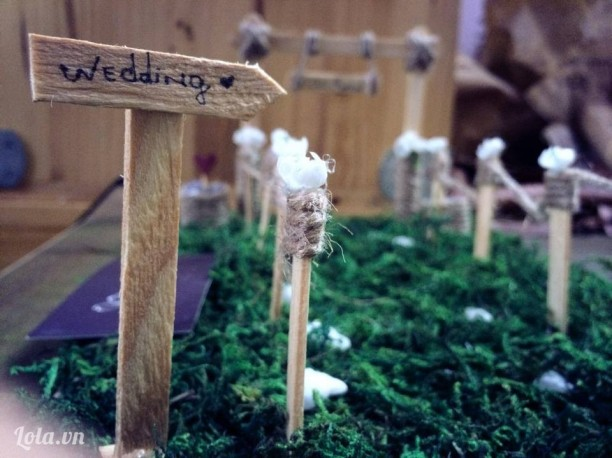 Handmade wedding garden venue