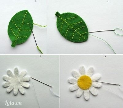 Làm hoa và lá