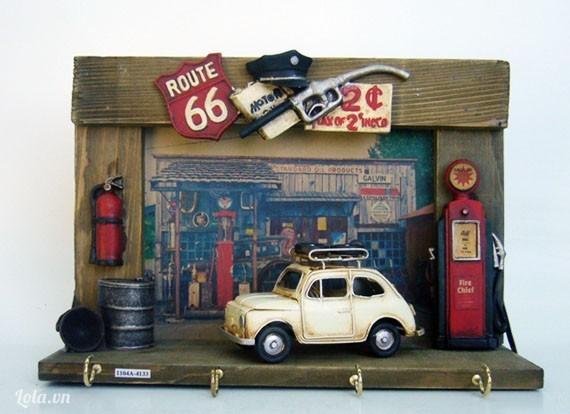 Bộ khung 3D treo chìa khóa vintage