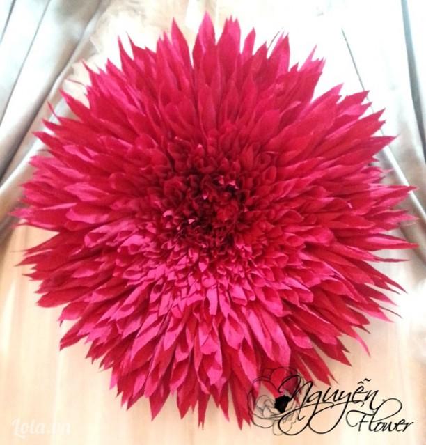 Bông hoa Thược Dược treo tường khổng lồ