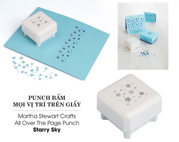 Punch bấm mọi vị trí trên giấy Mẫu Starry Sky