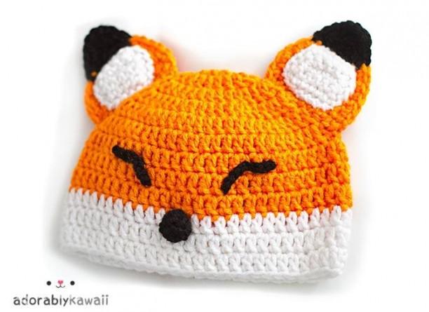 Mũ len cáo đáng yêu