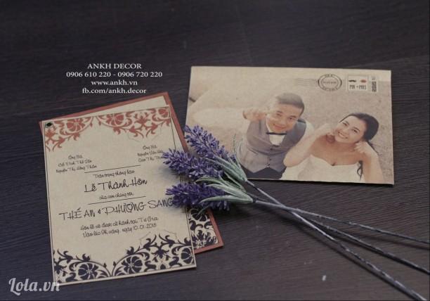 Thiệp mời , thiệp cưới sáng tạo và độc đáo phong cách cổ điển