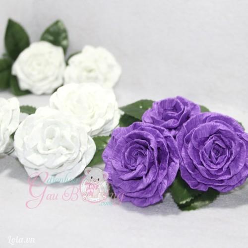 Hoa làm bằng giấy nhún