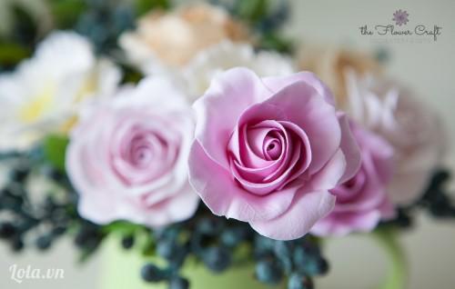 Cách làm hoa hồng bằng đất sét Nhật