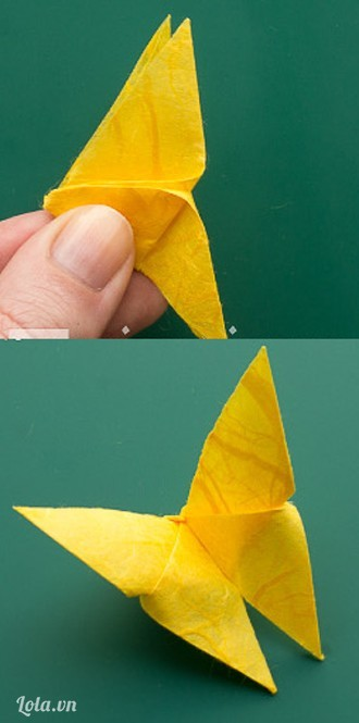 Hướng dẫn gấp bướm bằng giấy siêu đẹp theo phong cách Origami