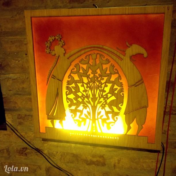 Tranh đèn thủ công