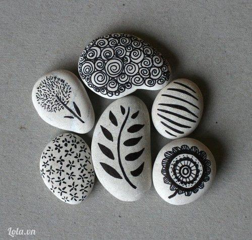 Vẽ lưu niệm trên đá với Bút lông dầu Sharpie - nhập khẩu từ Mỹ- phân phối bởi Vihand.com