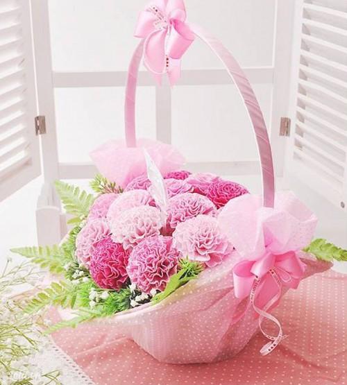 Hướng dẫn làm hoa cẩm chướng giấy nhún đơn giản