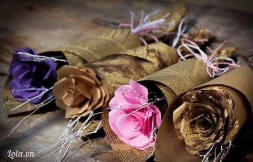 Hoa hồng giấy handmade