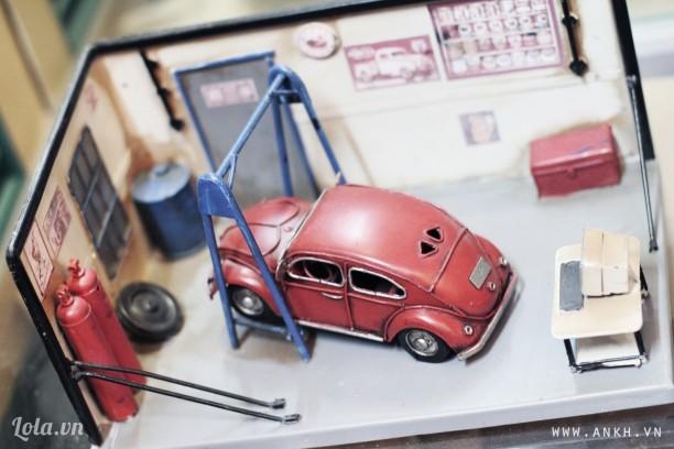 Mô hình garage xe hơi 3D handmade