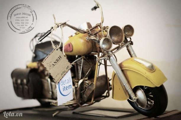 Mô hình xe môtô Harley Davidson handmade