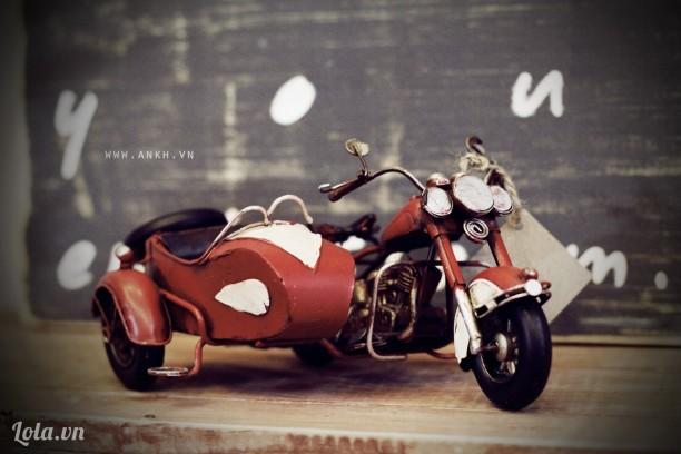 Mô hình xe moto (slidecar) handmade