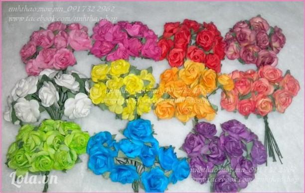 Hoa hồng giấy 1.5-2cm (thái)