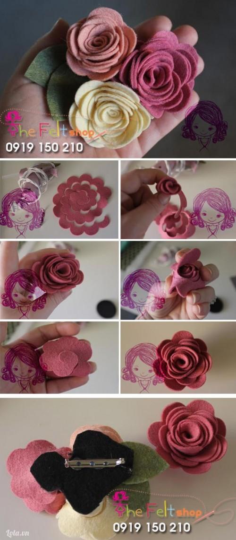 Kẹp hoa hồng rất xinh