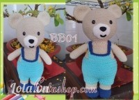 Gấu bông len cao cấp quà tặng dễ thương