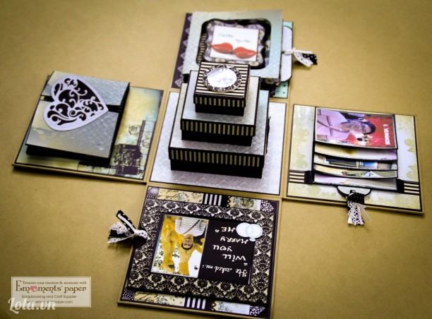 Explosion Photo Box - Album hộp