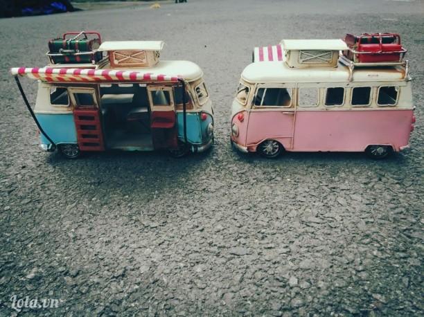 Xe mô hình bus Volkswagen + khung hình