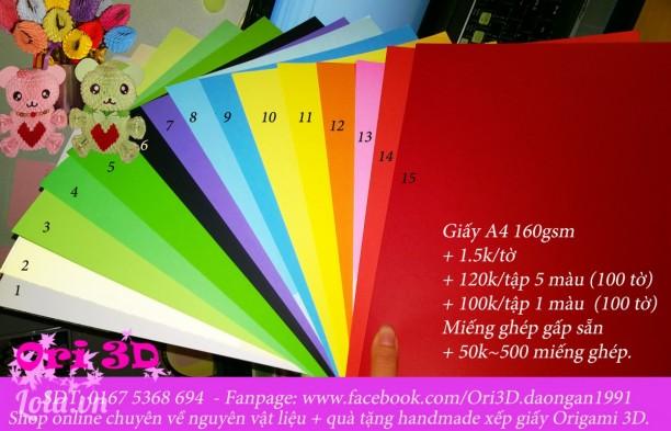 Nguyên liệu xếp giấy Origami 3D