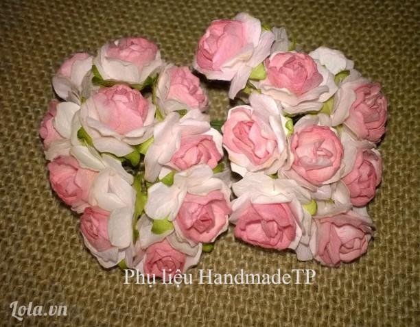 Hoa hồng giấy 2cm