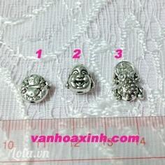 Mặt bạc xì trang trí vòng tay chuỗi (Phật Di Lặc và Rùa ngậm đồng xu)