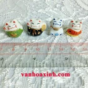 Mèo may mắn Maneki Neko bằng sứ