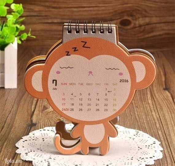 Lịch little monkey 2016