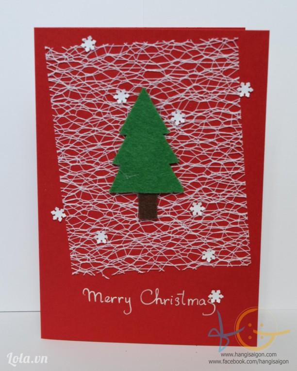 Thiệp giáng sinh handmade 18