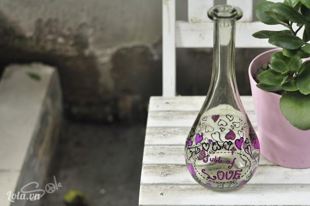 Chai rượu trang trí
