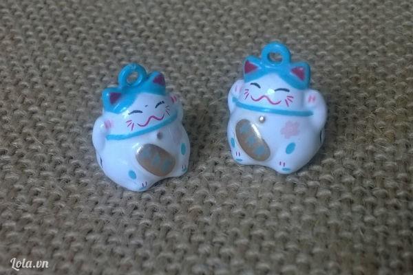 Mèo maneki làm vòng tay may mắn nhiều màu sắc