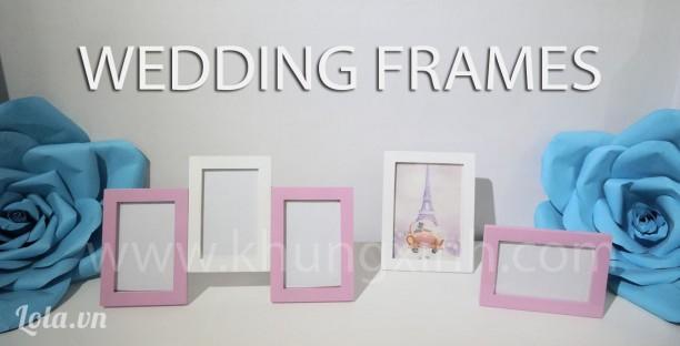 Khung trang trí tiệc cưới  tông  hồng