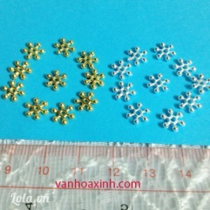 10 đế hoa/ khoen chặn hình sao MKC86-38R