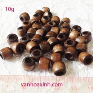 10g hạt gỗ nâu lỗ to HG82-10R