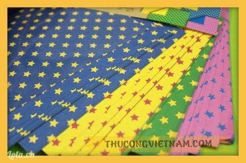Giấy gấp origami họa tiết ngôi sao