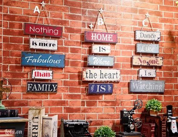 Bộ bảng chữ treo tường