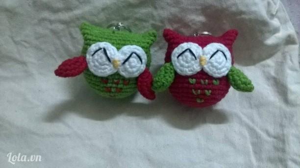 Móc khóa cú Lala Amigurumi Handmade từ len