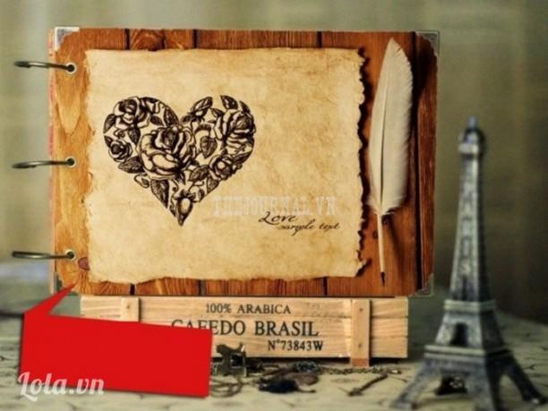 Album scrapbook tim hoa hồng đen