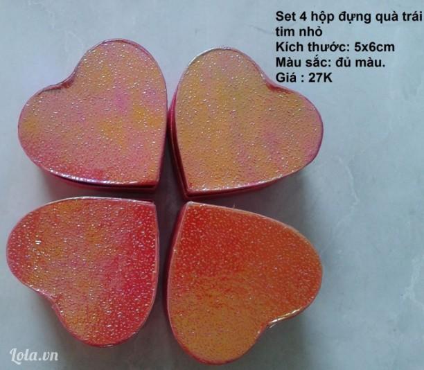 Hộp gói quà hình trái tim mini 5x6cm