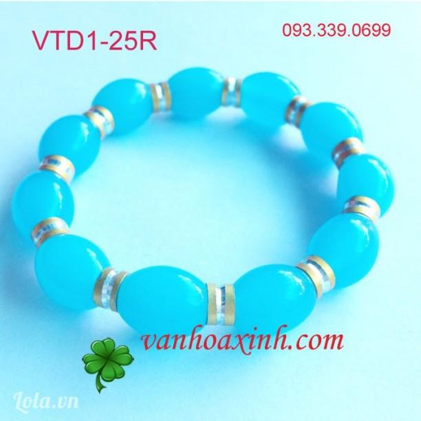 Vòng tay đá cà na màu xanh