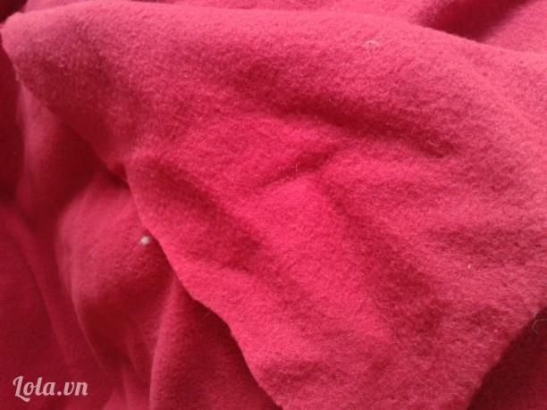 Vải nỉ mềm 2 mặt màu đỏ giá rẻ