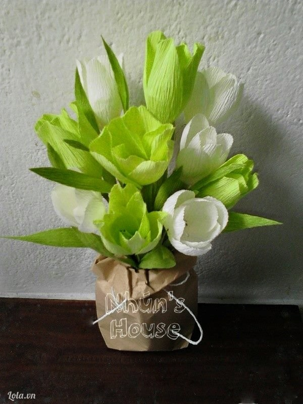 Túi hoa tulip giấy