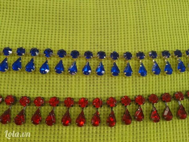 Chuỗi đá làm dây chuyền hoặc trang trí cổ áo