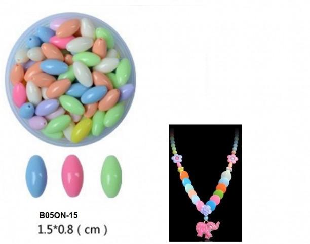 Hạt nhựa dẹt  8x15mm  có  lỗ xỏ đủ màu