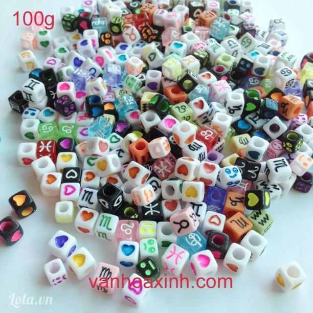 Hạt nhựa làm vòng tay nhiều mẫu giá siêu rẻ