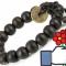 [Rẻ, đẹp] Chuỗi hạt đeo tay gỗ đồng xu may mắn