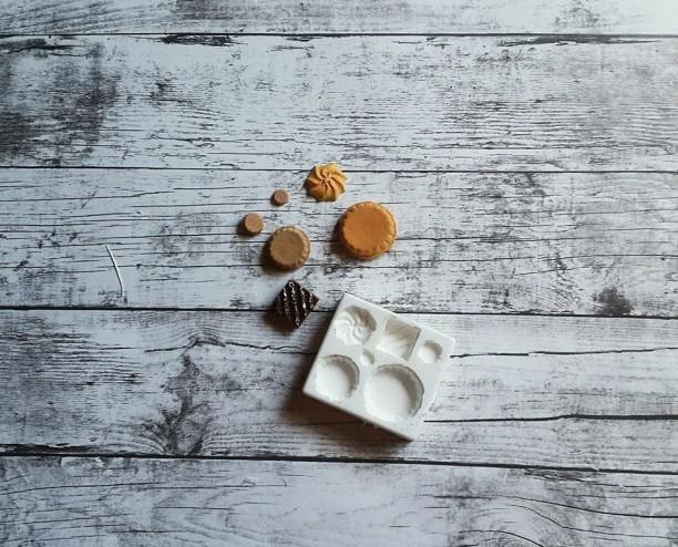 Khuôn nặn đất sét hình đồ ăn Tart phong cách Kawaii Nhật Bản